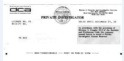 Los Angeles Private Investigator