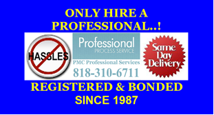 REGISTERED AND BONDED PROCESS SERVERS
