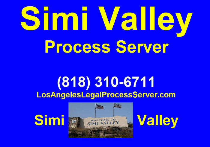 Process Server in Simi Valley Ca