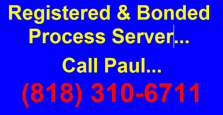 Registered & Bonded Service of Legal Process