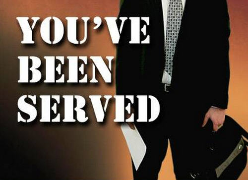 You've been served process server